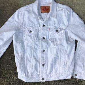 Levi's denim white jacket jean size medium